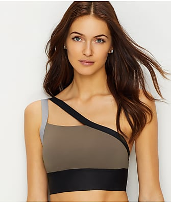 Reebok One Shoulder Wire-Free Sports Bra