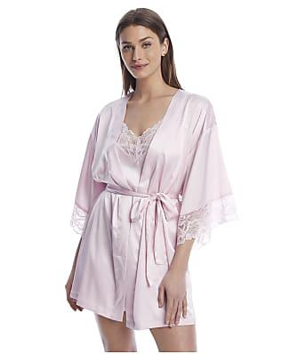 Reveal Satin & Lace Kimono Short Robe