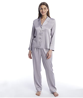 Reveal Washed Satin Long Pajama Set