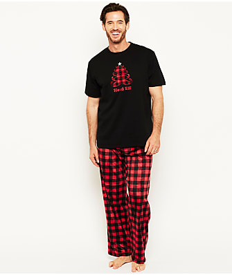 Karen Neuburger Plaid Fleece Pajama Set