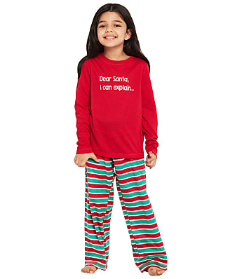 Karen Neuburger Kids Unisex Candy Stripe Fleece Pajama Set