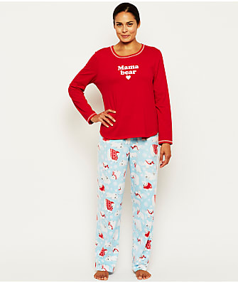 Karen Neuburger Mama Bear Fleece Pajama Set