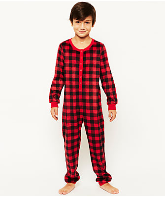 Karen Neuburger Kids Unisex Plaid Fleece Onesie