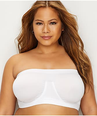 Rhonda Shear Plus Size Ahh Angel Seamless Bandeau Bra