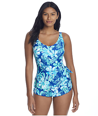 Roxanne Tropical Melody Sarong One-Piece C-DD Cups