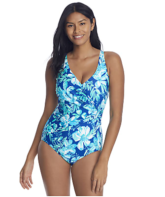 Roxanne Tropical Melody Sash Underwire One-Piece D-DD Cups