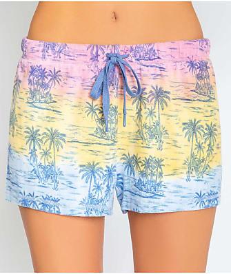 P.J. Salvage Pigment Please Tropical Knit Shorts
