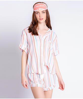 P.J. Salvage Saturday Morning Woven Stripe Pajama Set