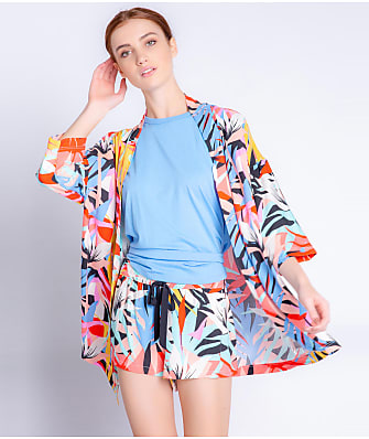 P.J. Salvage Tropical Staycation Sateen Robe