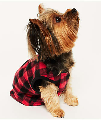 Karen Neuburger Plaid Dog Fleece