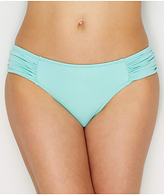 Seafolly Solid Retro Side Shirred Bikini Bottom