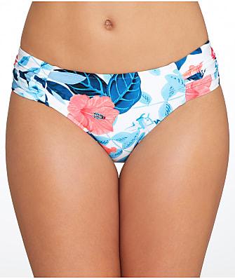 Seafolly Tropical Vacay Side Shirred Bikini Bottom