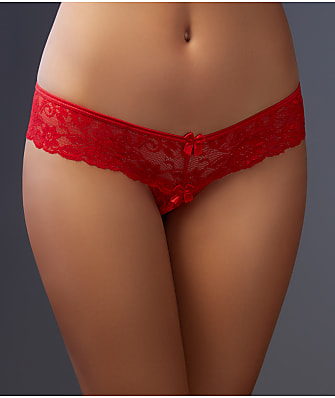 Shirley of Hollywood Crotchless Lace Thong