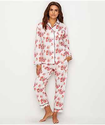 Sleepy Jones Bishop Polka-Dot Floral Woven Cotton Pajama Set
