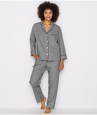 Sleepy Jones Glen Plaid Woven Pajama Set