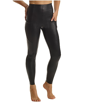 Commando Faux Leather Pocket Leggings