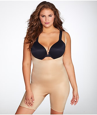 SPANX Plus Size Power Conceal-Her Medium Control Open-Bust Bodysuit