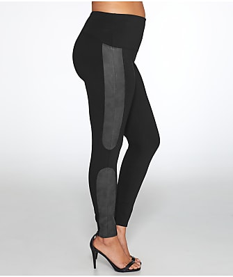 SPANX Plus Size Faux Leather Panel Ponte Leggings