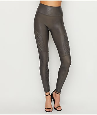 SPANX Faux Leather Medium Control Moto Leggings