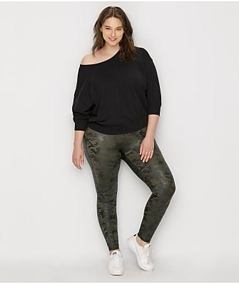 SPANX Plus Size Faux Leather Camo Leggings