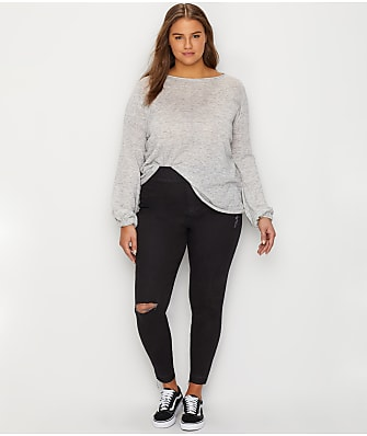 SPANX Plus Size Distressed Denim Leggings