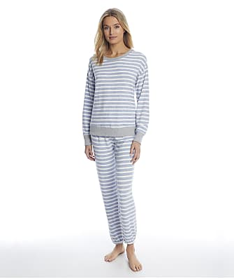 Splendid Weekend Stripe Sweater Knit Pajama Set