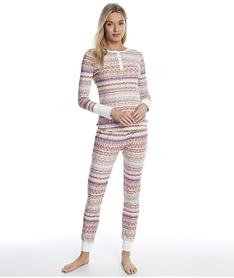 Splendid Fairisle Thermal Pajama Set