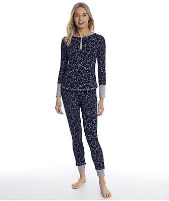 Splendid Starry Night Thermal Pajama Set