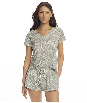 Splendid V-Neck Shorty Knit Pajama Set