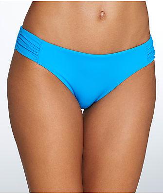 Sunsets French Blue Shirred Bikini Bottom