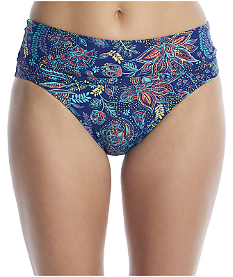 Sunsets Dreamscape Fold-Over High-Waist Bikini Bottom