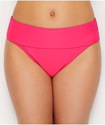 Sunsets Hot Pink Fold-Over High-Waist Bikini Bottom
