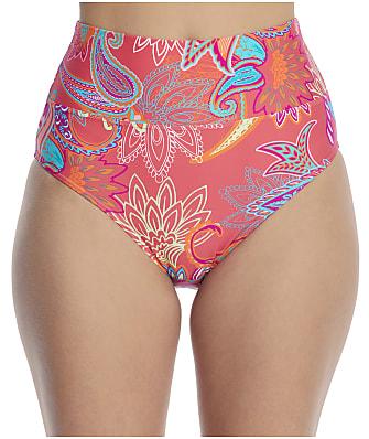 Sunsets Island Bliss Fold-Over High-Waist Bikini Bottom