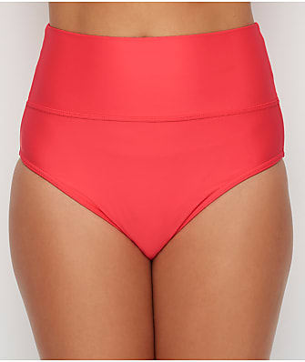 Sunsets Nectarine Fold-Over High-Waist Bikini Bottom