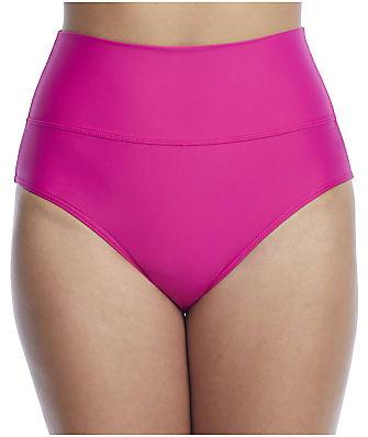 Sunsets Pitaya Fold-Over High-Waist Bikini Bottom