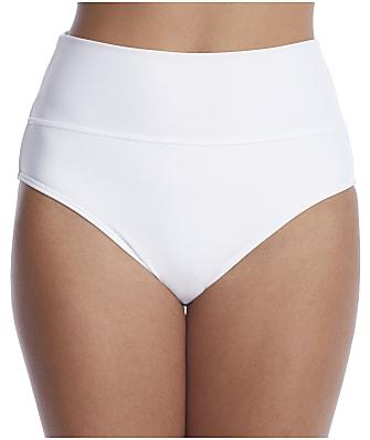 Sunsets White Fold-Over High-Waist Bikini Bottom