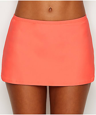 Sunsets Bright Guava Kokomo Skirted Bikini Bottom