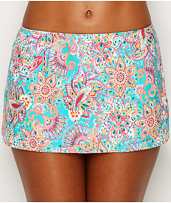 Sunsets Fiesta Flora Kokomo Skirted Bikini Bottom