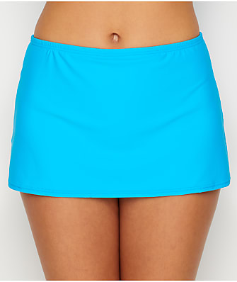 Sunsets Poolside Blue Kokomo Skirted Bikini Bottom