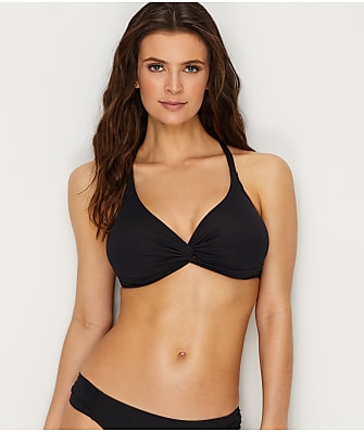 Sunsets Black Olivia Twist Bikini Top E-H Cups