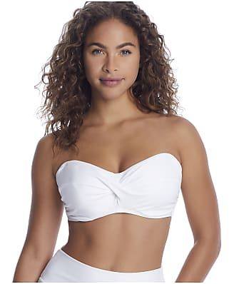 Sunsets White Iconic Twist Bandeau Bikini Top