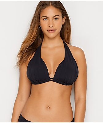 Sunsets Black Marilyn Halter Bikini Top