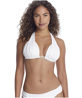 Sunsets White Marilyn Halter Bikini Top
