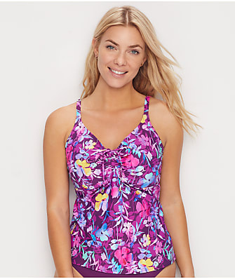 Sunsets Evening Blooms Avery Underwire Tankini Top