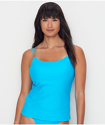 Sunsets Poolside Blue Taylor Underwire Tankini Top
