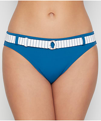 Swim Systems Maritime Stripe Belted Bikini Bottom