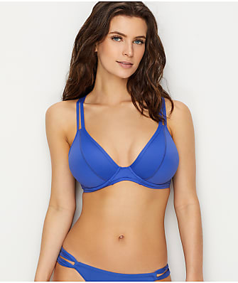 Swim Systems Blue Violet Avalon Bikini Top D-DD Cups