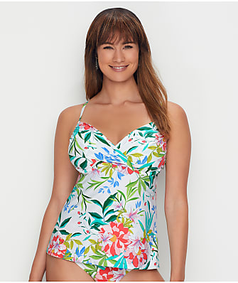 Swim Systems Coastal Garden Crossroads Underwire Tankini Top D-DDD Cups