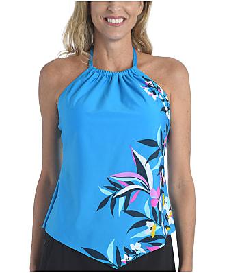 24th & Ocean Tropical Hideaway Handkerchief Tankini Top