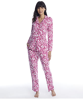 The Cat's Pajamas Queen Anne Pima Knit Pajama Set